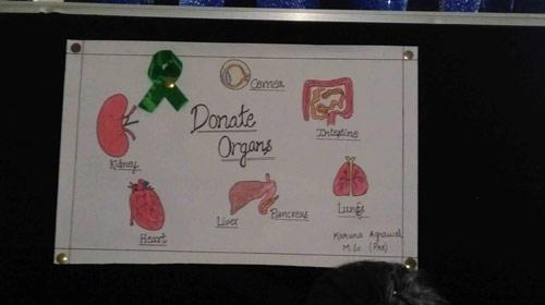 Awareness talk and slogan writing competition on organ donation at