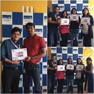 Awareness program on organ donation held at bharti axa - Bharti axa life insurance head office ...