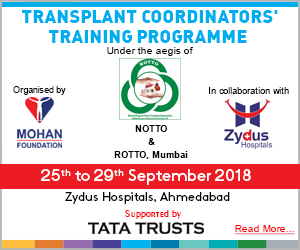 One Week Transplant Coordinators' Training Programme, Ahmedabad
