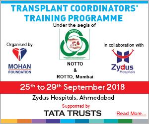 One Week Transplant Coordinators' Training Programme, Ahmedabad