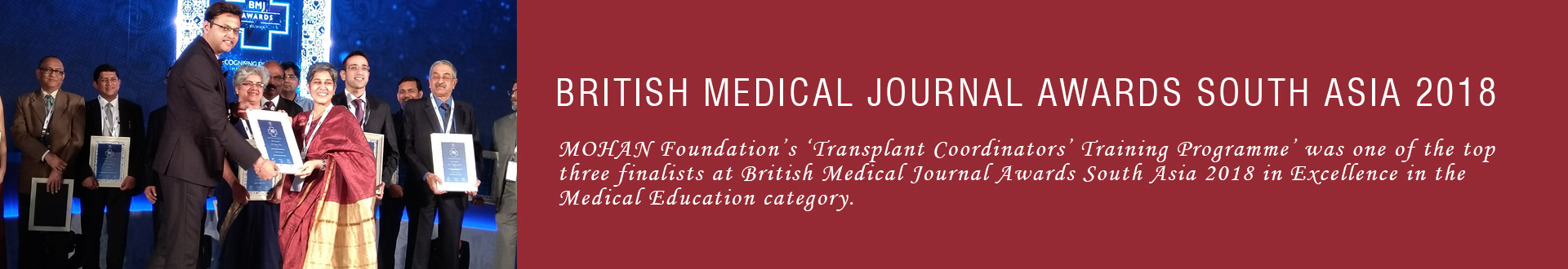 British Medical Journal Awards South Asia 2018