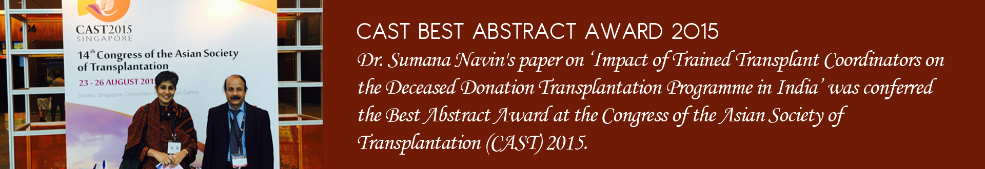 CAST BEST ABSTRACT AWARD 2015