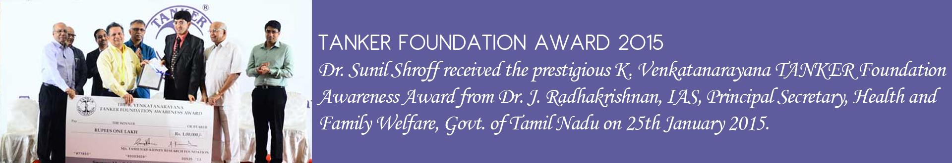 TANKER FOUNDATION AWARD 2015