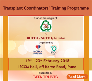 One Week Transplant Coordinators' Training Programme, Pune